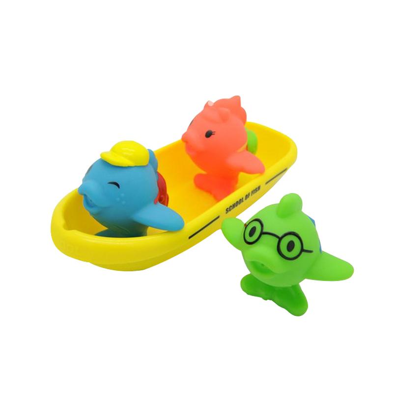 满趣健飞鱼小船洗澡玩具
