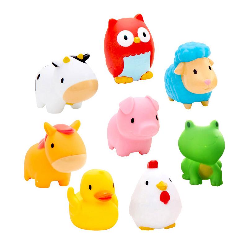 满趣健农场小动物洗澡玩具(8只装)