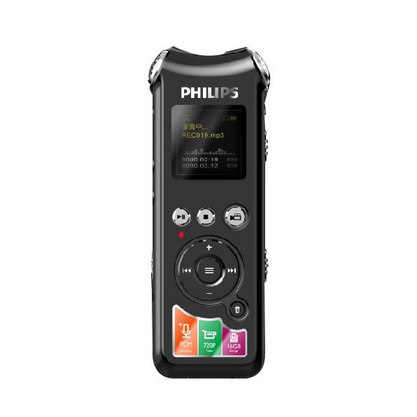飛利浦VTR8010小型錄音錄像筆專業錄音筆攝像攝像筆帶攝像頭專業高清降噪正品小微型可拍照錄像的黑
