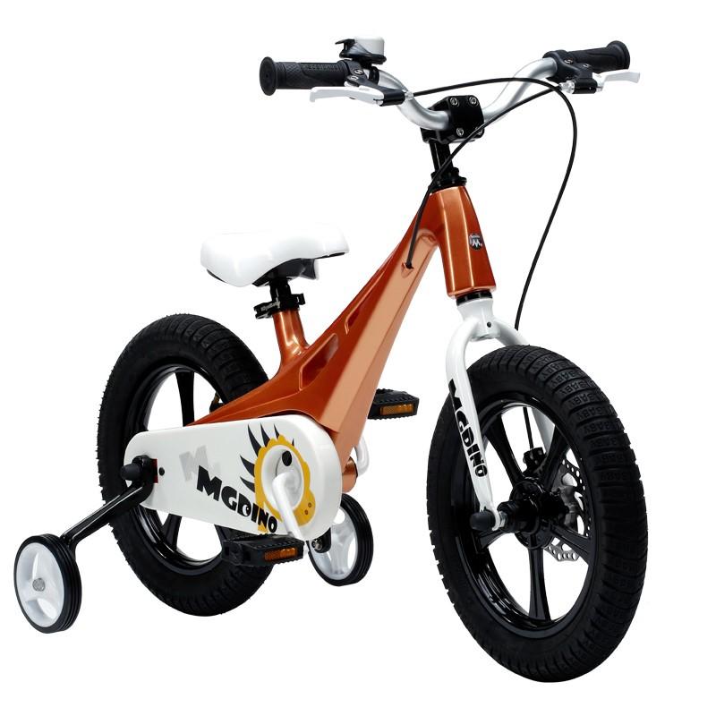 優貝兒童自行車3寶寶腳踏車2-4-6-7-8-9-10歲童車男孩女孩單車14寸小威龍(金色)