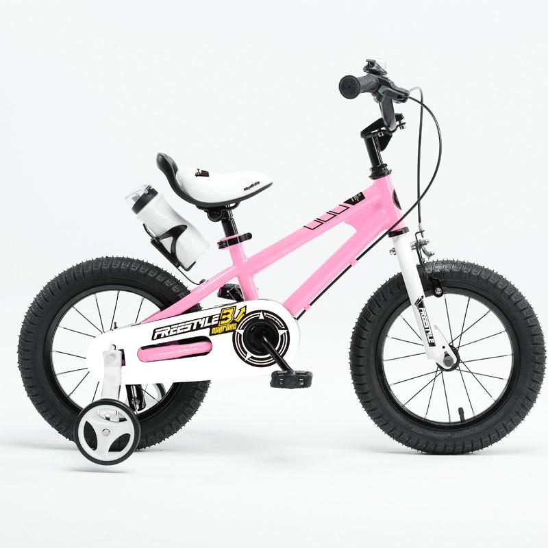 優貝兒童自行車3寶寶腳踏車2-4-6-7-8-9-10歲童車男孩女孩單車14寸表演車(粉色)