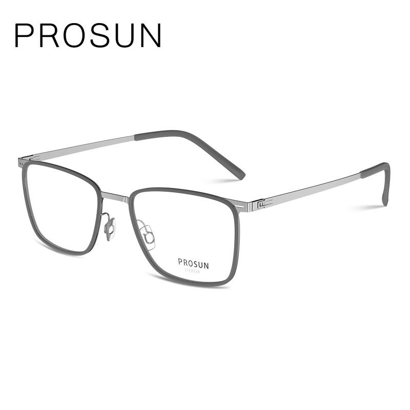 PROSUN保圣眼鏡框男全框復古近視眼鏡大臉方框眼鏡架PJ6012B11
